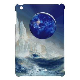 Cosmic Earth at Night and Thomas Moran Iceberg iPad Mini Cover