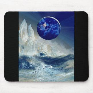 Cosmic Earth at Night and Thomas Moran Iceberg Mouse Pad