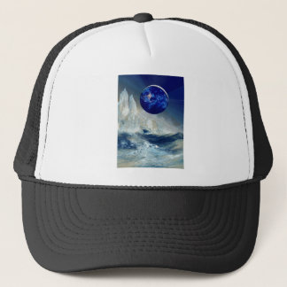 Cosmic Earth at Night and Thomas Moran Iceberg Trucker Hat