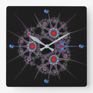 Cosmic Explosion Square Wall Clock