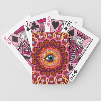 Cosmic Eye Mandala Psychedelic Playing Cards
