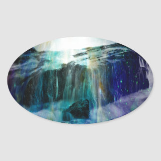 Cosmic Falls Oval Sticker