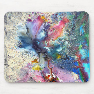 Cosmic Flower Mouse Pad