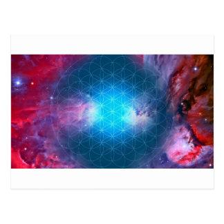 Cosmic Flower of Life Postcard