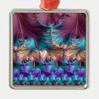 Cosmic Fountain of Childhood Fractal Abstract Metal Ornament
