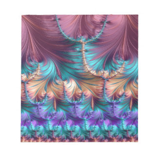 Cosmic Fountain of Childhood Fractal Abstract Notepad