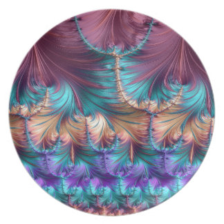 Cosmic Fountain of Childhood Fractal Abstract Plate