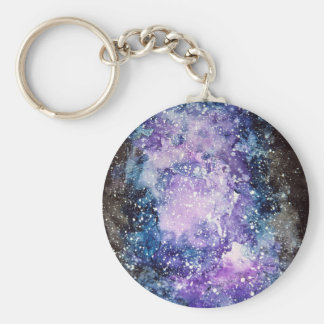 Cosmic galaxy keychain