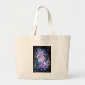 Cosmic galaxy large tote bag