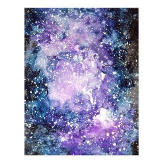 Cosmic galaxy letterhead