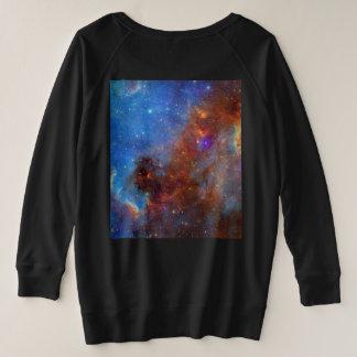 Cosmic Galaxy Nebula Plus Size Sweat Shirt