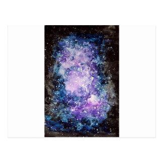 Cosmic galaxy postcard