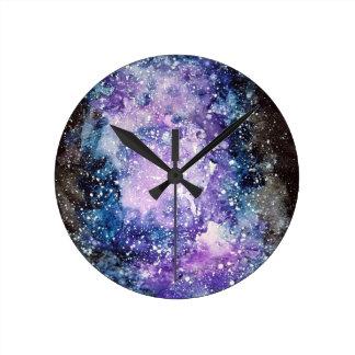 Cosmic galaxy round clock