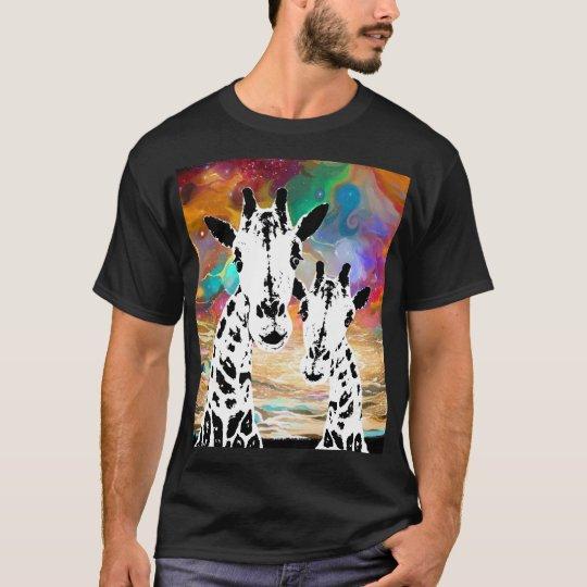 Cosmic Giraffe's Colourful Galaxy Black t-shirt