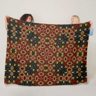 Cosmic Gold Reaper Satin Mandala Quilt Fleece Blanket