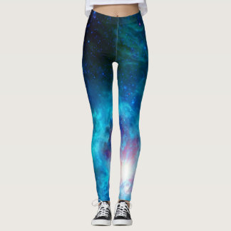 Cosmic Hearth Azul Leggings