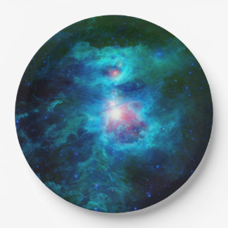 Cosmic Hearth Azul Paper Plate