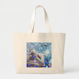 Cosmic Hitch-hiker Large Tote Bag