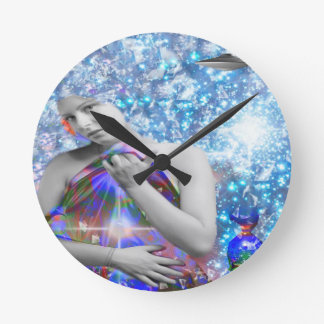 Cosmic Hitch-hiker Round Clock