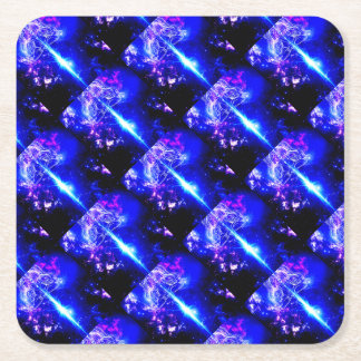 Cosmic Iridescence Square Paper Coaster