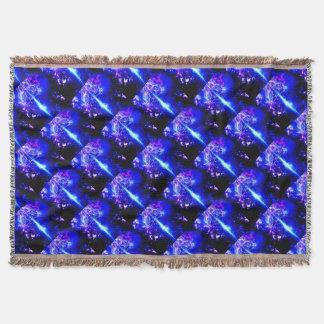 Cosmic Iridescence Throw Blanket