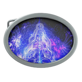 Cosmic Iridescent Koi Belt Buckles