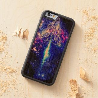 Cosmic Iridescent Koi Carved Cherry iPhone 6 Bumper Case