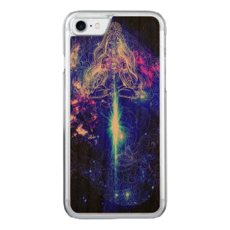 Cosmic Iridescent Koi Carved iPhone 7 Case