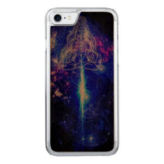 Cosmic Iridescent Koi Carved iPhone 8/7 Case