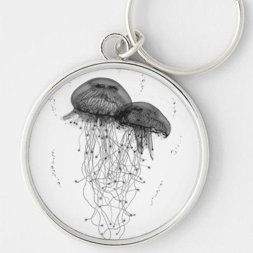 Cosmic Jellyfish (White) Key Chains