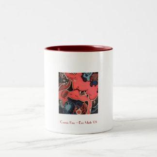 Cosmic Kiss Eric Mintz '08, Cosmic Kiss ~Eric M... Two-Tone Coffee Mug