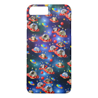 Cosmic Kittens in Alien Spaceship UFO Sci-fi Scene Case-Mate iPhone Case