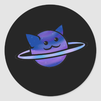 Cosmic Kitty Classic Round Sticker