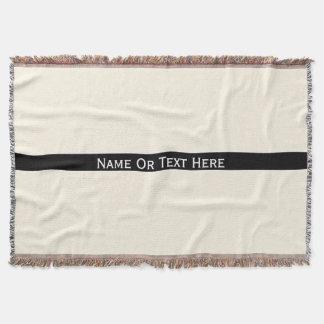Cosmic Latte Cream Custom Name Or Text Here Throw Blanket
