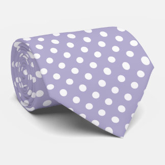 Cosmic lavender purple polka dots tie