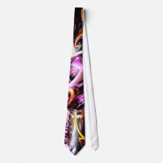 Cosmic Lightning Abstract Tie