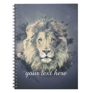 COSMIC LION KING | Custom Notebook (80 Pages B&W)