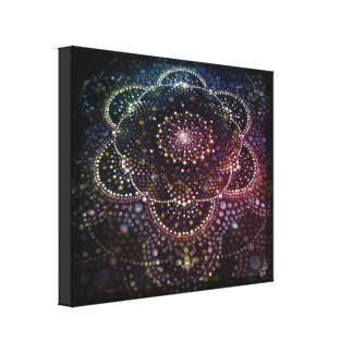 Cosmic Love Mandala Painting Canvas Print