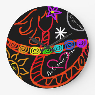 Cosmic Love Round (Large) Wall Clock