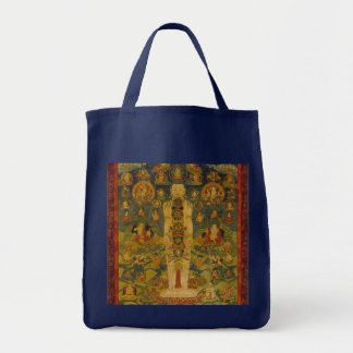 Cosmic Man Tibetan Yoga Thangka Tote Bag