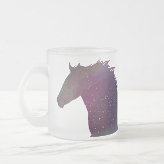Cosmic Mustang Frosted Glass Coffee Mug