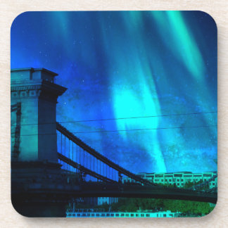 Cosmic Night in Budapest Beverage Coasters