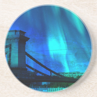 Cosmic Night in Budapest Drink Coasters