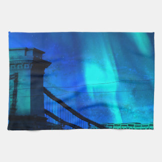 Cosmic Night in Budapest Kitchen Towel