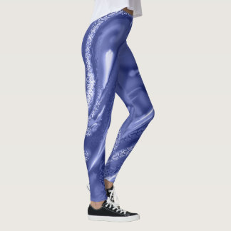 Cosmic pattern leggings monochrome blue