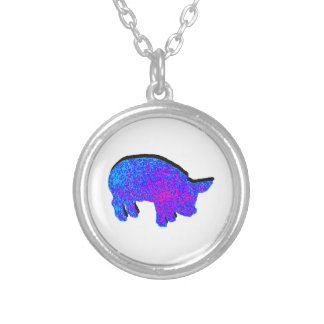 Cosmic Piglet Silver Plated Necklace