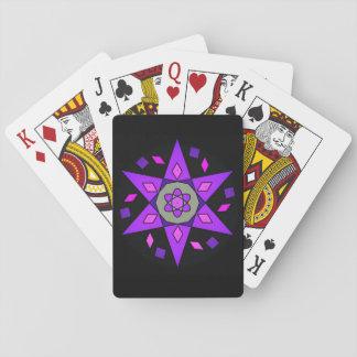 Cosmic Pink Purple Black Geometric Star Cards