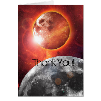 Cosmic Planets Explore Thank You Card