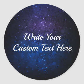 Cosmic Print blue shaded customizable Stickers