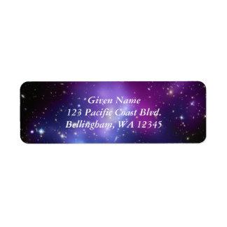 Cosmic Purples Avery Label
